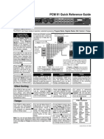 Lexicon PCM 91 Quick Reference Guide