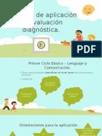 Protocolo de Aplicación de Evaluación Diagnóstica