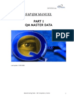 QM Training -1- Master Data Manual