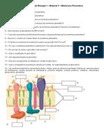 Questionário - 3 - Membrana Plasmática