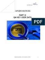 QM Training -2- Key User Manual