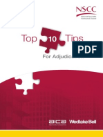 Top 10 Tips for Adjudication