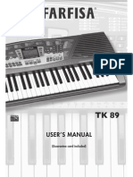 Farfisa TK 89 Synthesizer Owner Manual