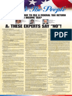 """DO YOU HAVE TO FILE A FILE A FEDERAL TAX RETURN OR PAY AN INCOME TAX? THESE EXPERTS SAY """"NO""""!"""
