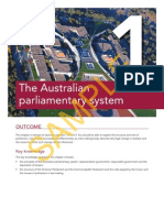 Justice and Outcomes Ch1 Australian Parliamentary System