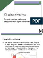FM3 - 3 - Corrente contínua e alternada; Energia eléctrica e Potência eléctrica
