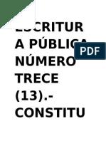 Escritura Pública Número Trece