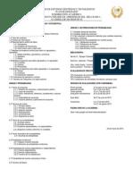 Programa Sintético de Probabilidad y Estadística 2015