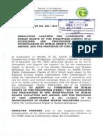 RHRC Resolution No. 2013-044