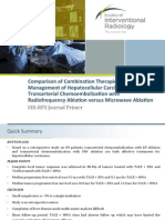 IO Journal Primer Comparison of Combination Therapies in HCC TACE With RFA and MWA With Edits