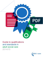Guide to Qualifications and Standards in Adult Social Care 201415