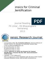 Lip Forensics for Criminal Identification