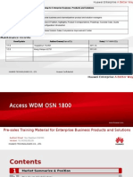 Huawei OSN1800 Pre-sale Training Slide for Agent (2012)