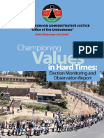 Championing Values in Hard Times, Elections 2013