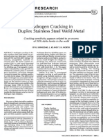 Hydrogen Cracking in Duplex Stainless Steel Weld Metal