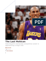 Kobe Bryant- The Last Mohican