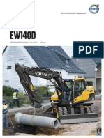 Folleto excavadora Volvo EW 140 D