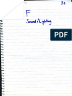 ppp sound and lighting notes sample