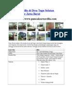 Disewakan Villa Di Desa Tugu Selatan Puncak Bogor Jawa Barat