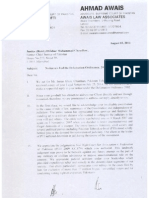 Imran Khan's Original Response to CJ Notice
