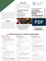 La Historia Religiosa en la España contemporánea 2015
