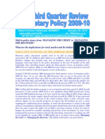 RBI's Third Quarter Review-Shift in Monetary Policy 2009-10 Stance-VRK100-29012010