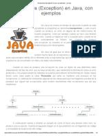 Excepciones (Exception) en Java, Con Ejemplos - Jarroba