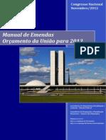 Manual de Ementas Orçamento Da União 2013