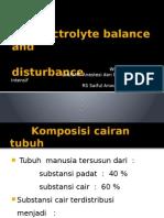 Electrolyte Balance And