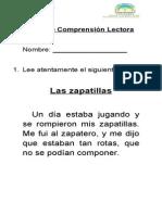 Guía de Comprensión Lectora Las Zapatillas
