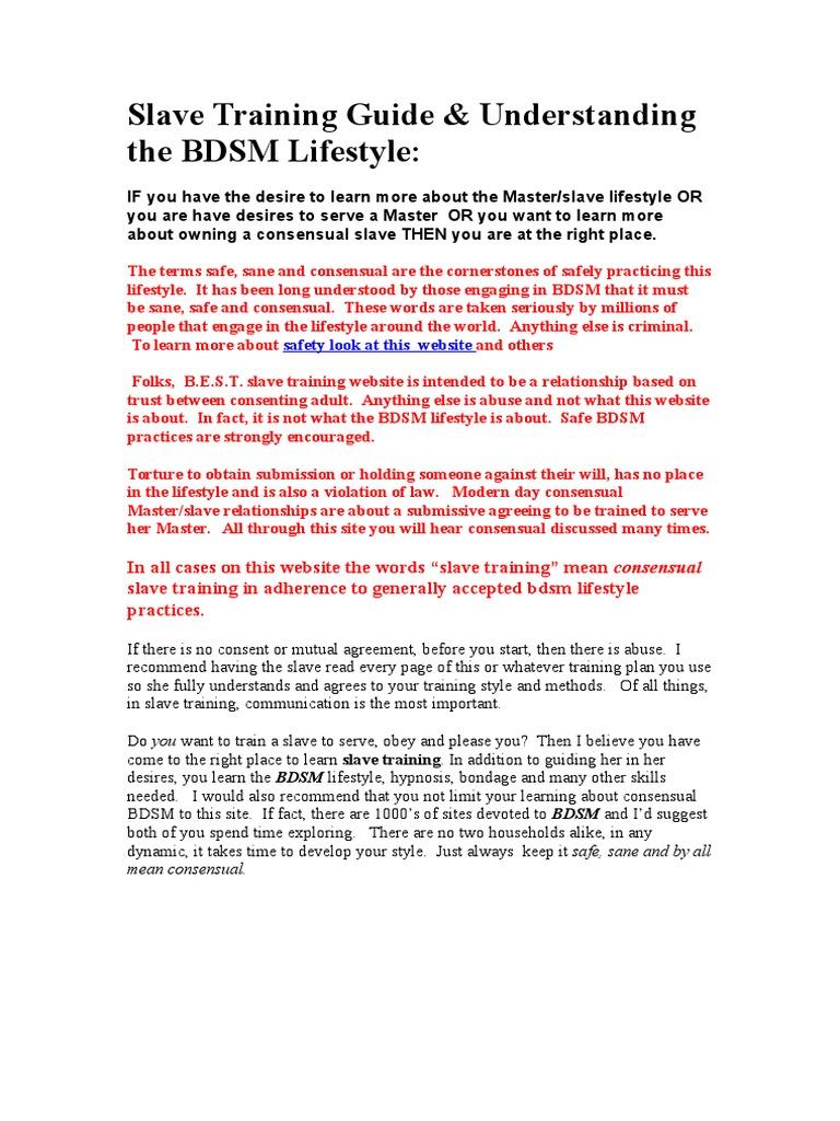Bdsm slave guide