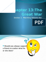 chapter 13- section 1 marching towards war (wwi causes)