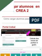 Agregar Alumnos en CREA 2