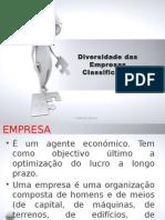 Gestão UFCD-619 Diversidade Das Empresas