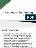 Cercetare În Nursing CURS 1 Rom