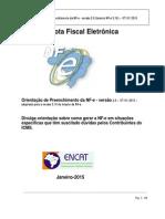 Orientacao de Preenchimento Da NF-e Versao 2015 Leiaute NF-e Versao 3.10 (1)