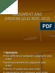 Judgment & Order