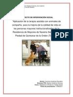 Aplicación de La Terapia Asistida Con Animales De
