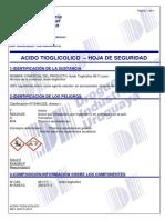 ACIDO TIOGLICOLICO- MSDS