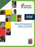 Resumen Política de Participación de Familias y Comunidad