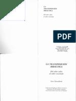 capítulo 1 La transposición didáctica Chevallard
