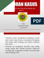 Laporan Kasus 1 Tonsilitis Kronis Eksaserbasi Akut