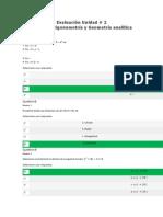 Evaluación Unidad 2 Álgebra, Trigonométrica y Geometría Analítica