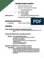 CV Waseem Jan.2015
