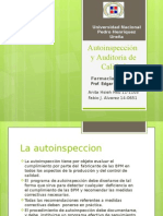 Farmacia Industrial -Autoinspección y Auditoria de Calidad