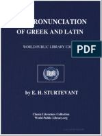 The Pronunciation of Greek and Latin