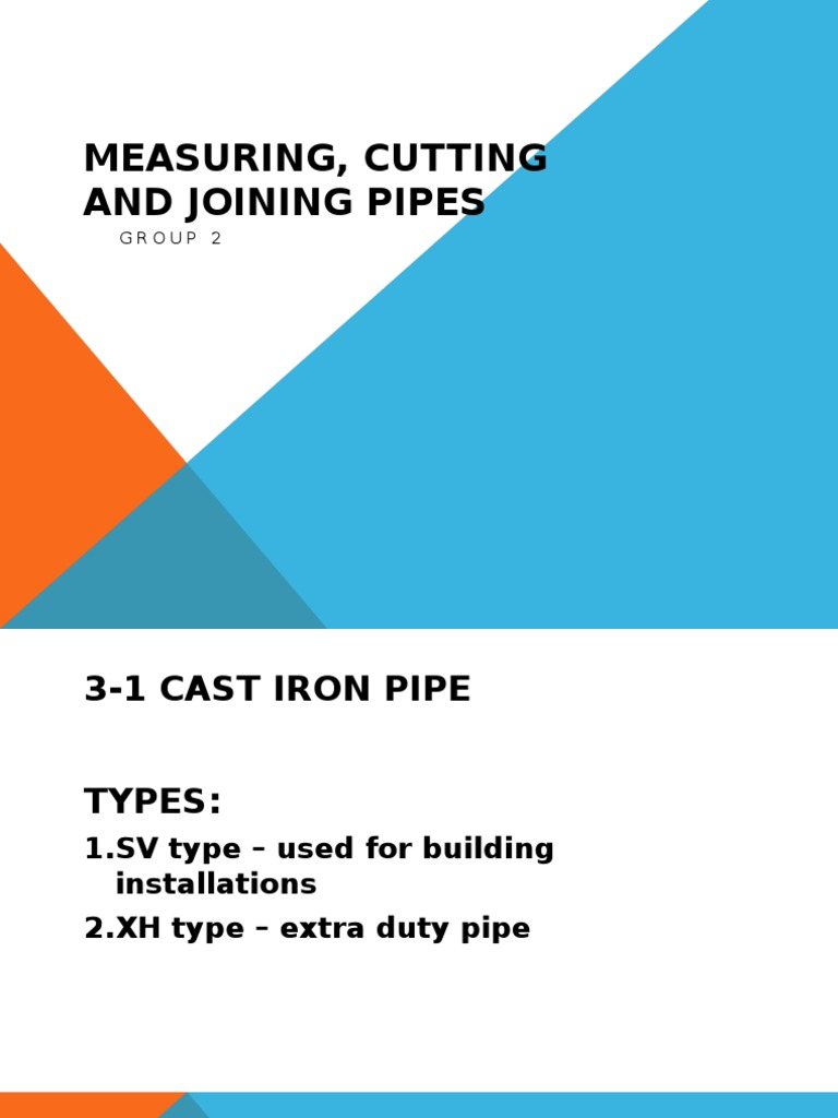 Measuring, Cutting and Joining Pipes | Pipe (Fluid Conveyance ...