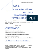 Valores Propios, Vectores Propios y Formas Canonicas