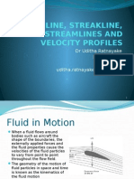 1 Pathline, Streakline, Streamlines and Velocity Profiles