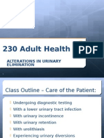 Alterations in Urinary Elimination